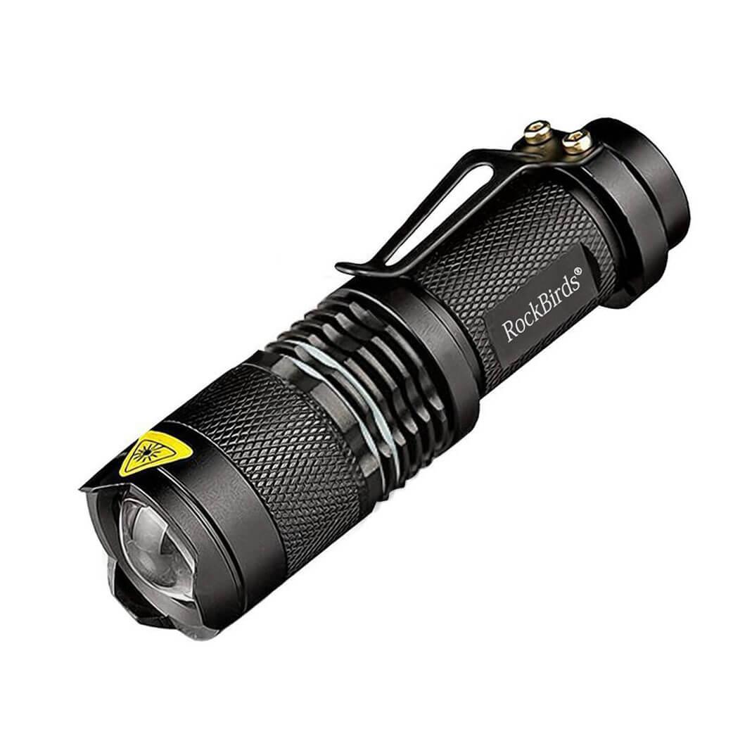 Rockbirds LED Flashlight, A100 Mini Super Bright 3 Mode Tactical Flashlight